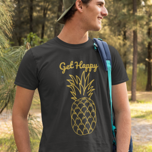 get happy pineapple graphic tshirt for men women boys girls unisex