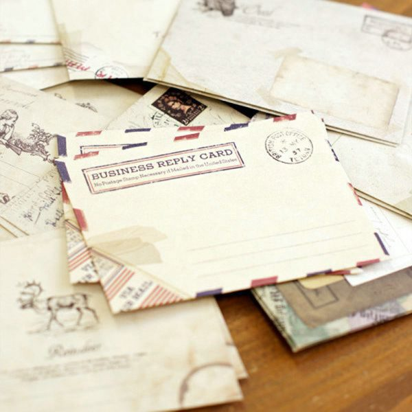 aged parchment envelopes